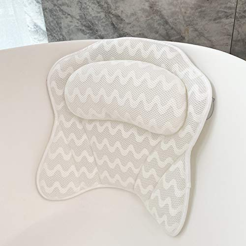Bath Pillows for Tub 3D Mesh Spa Bathtub Pillow Cushion Rest 6...