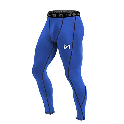 MEETYOO Leggings Uomo, Calzamaglie Sportive Pantaloni Fitness Compressione Baselayer per Jogging Ciclismo Running