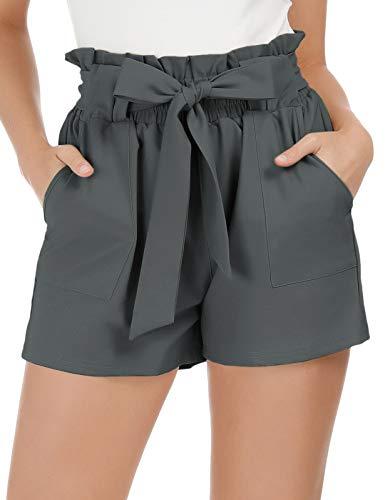GRACE KARIN Women's Casual Elastic Waist Short Pants Shorts with Pockets