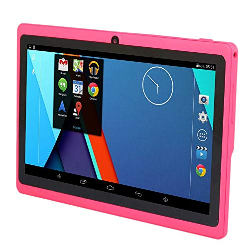 Cavis 7 Inch Kids Tablet Android Quad Core Dual Camera WiFi Education Game Gift for Boys Girls,Pink