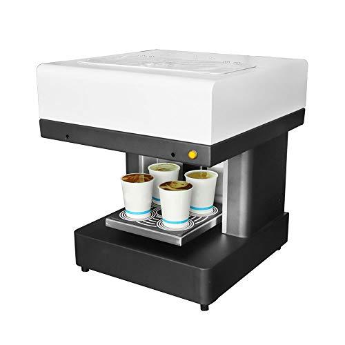 Impresora Automática De 4 Tazas De Café, Impresora De Arte De Café Con Leche, Impresora De Arte Selfie De Tartas De Café, Impresora De Tinta Comestible Totalmente Automática (blanco)(Size:110v)