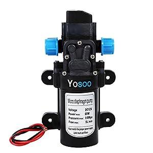 Yosoo Bomba de agua automática de alta presión de Dell para Camper Caravan Boat Truck Garden (DC 12 V 60 W Diafragma…