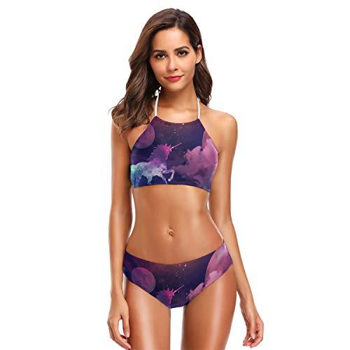 DXG1 Unicornio Galaxytarryky de lujo de las mujeres lindo bikini conjuntos playa traje de baño con acolchado Color-1 52