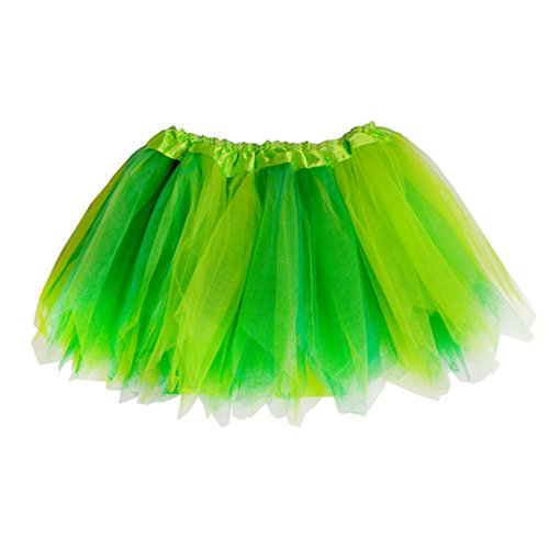 Gone For a Run Runners Premium Tutu Lightweight | One Size Fits Most | Colorful Running Skirts | Fairy Yellow/Green