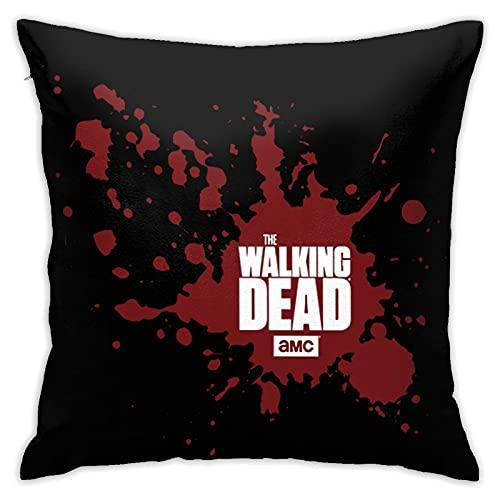 MRKAL The Walking Dead Fundas de Almohada para Dormitorio Fundas Decorativas para el hogar Sofá Sofá Funda de Almohada Cuadrada Pillow Covers