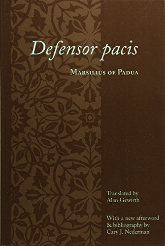 Defensor Pacis (Records of Western Civilization)