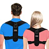 Haltungskorrektur, UBRU NEUSTE Rückenstütze mit 2 Methoden zur Anpassung ideal für Herren Damen und Kinder, Rückenstabilisator aus erstklassig Material, super weich & komfortabel Geradehalter -