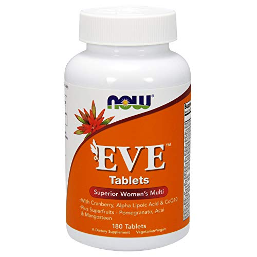Now Foods Eve Superior Multivitamin für Frauen 180 Tabletten Vegan Vegetarisch Glutenfrei