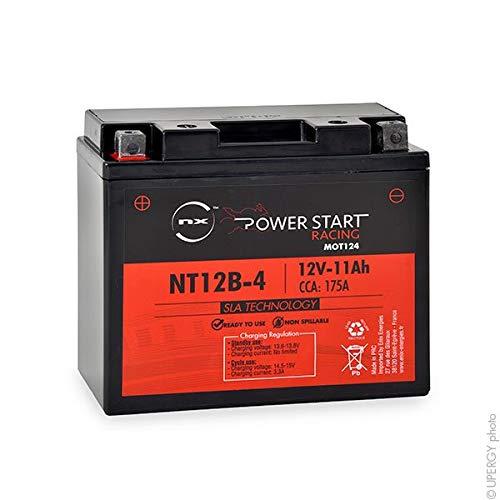Batería de Moto YT12B-4 / YT12B-BS 12V 11Ah de Plomo AGM *SIN Mantenimiento*