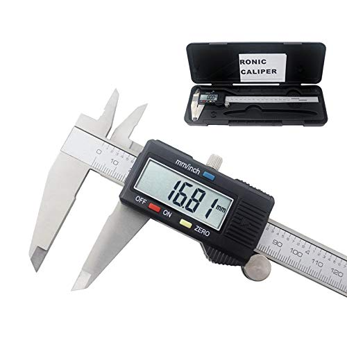 XUSHEN-HU Electrónica Digital Vernier de 150/200 / 300 mm de Acero Inoxidable Calibre Regla de medición Pantalla de diagnóstico-Herramienta 0,01 mm Micrómetro (Color : 200mm with Box)