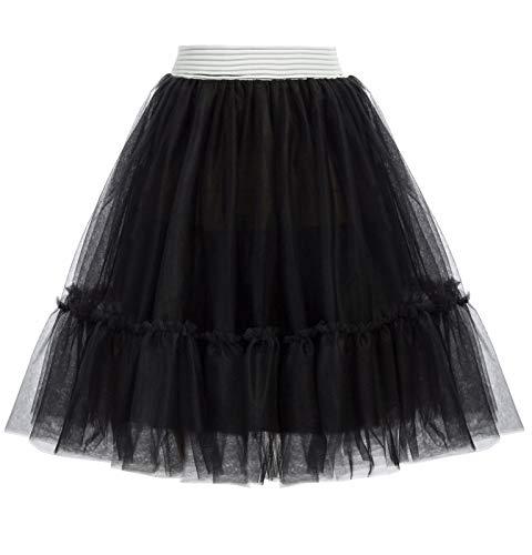 GRACE KARIN Women's Vintage Petticoat Skirt. Ideal for Madonna 80s Dress-Up