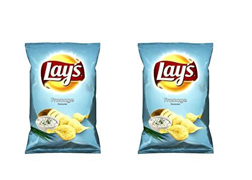 LAY'S Patatas fritas (sabor a crema agria), 265 g - Pack de 2