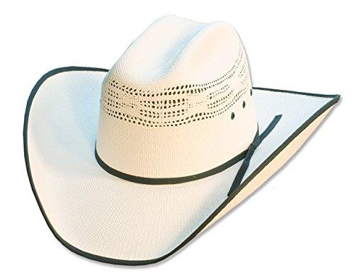 Stars & Stripes, cappello da Rodeo Style, per uomo e donna, in paglia, bianco bianco 54 CM