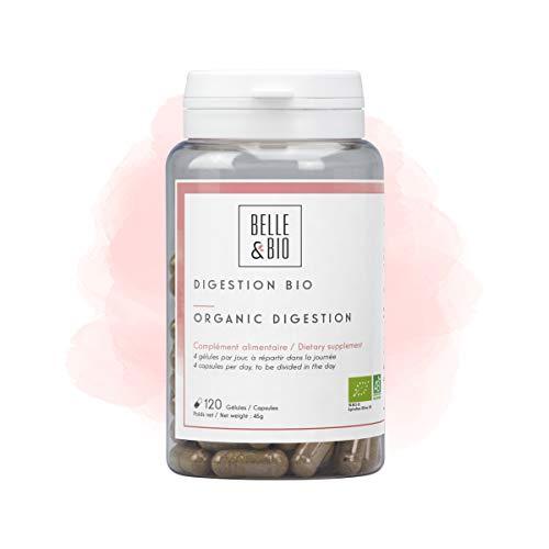 Belle&Bio Digestion Bio - 120 gélules - Certifié Bio par Ecocert - Fabriqué en France