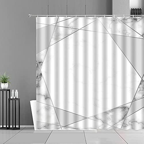 XCBN Cortinas de Ducha con diseño de Rayas de mármol Modernas, Cortina de baño de Estilo Simple para decoración del hogar, mampara de baño Impermeable A9 120x180cm
