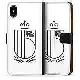 DeinDesign Étui Compatible avec Apple iPhone XS Max Étui Folio Étui magnétique Belgique RBFA...