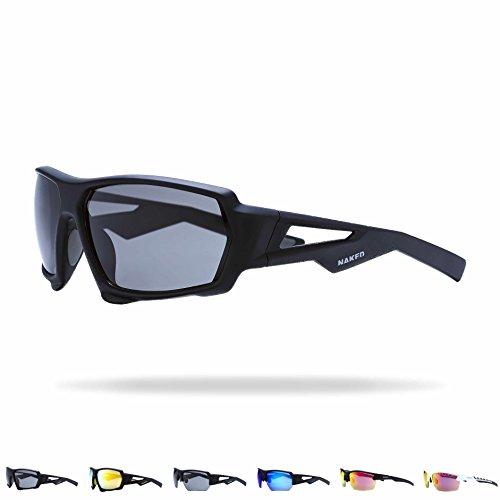 NAKED Optics Sports Sunglasses (Fullframe Black/Lens Black)