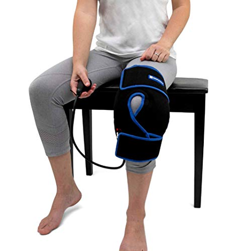 Cold Therapy Knee Ice Wrap with Compression and 2 Ice Gel Packs - Essential Kit for Knee Pain Relief and Post Surgery Recovery by SimplyJnJ