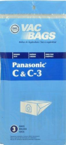 Panasonic type C & C-3 Boîte à Sacs Aspirateur de Rechange, DVC marque, conçu pour Panasonic Aspirateur à l'aide de type C Sacs & C-3, Lot de 3 sacs