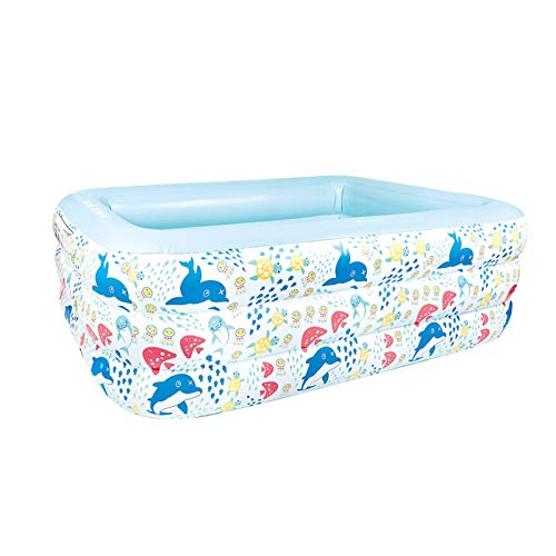 yummyfood123 Inflatable Pool Children's Paddling Pool Portable Soaking Tub Swimming Pool Suitable For Family Summer Entertainment, Enjoy Pool Party