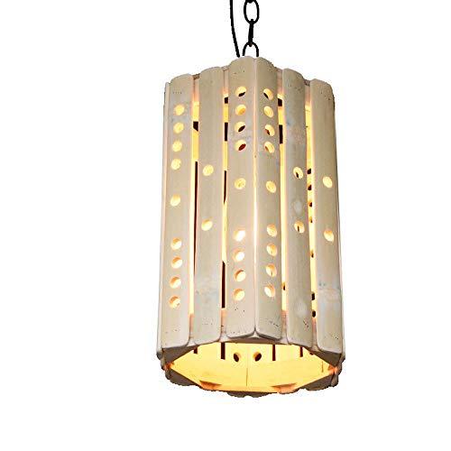 WFZRXFC Sudeste asiático lámpara de bambú Antiguo Hecho a Mano de bambú Tejido Chandelier Villa cafetería Sala de Estudio Colgante luz Creativa Personalidad Suspender luz Cilindro Empalme