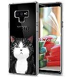 OKZone Cover Galaxy Note 9 [con Pellicola Proteggi Schermo], Custodia Gel Trasparente Morbida Silicone Sottile TPU Cover Protettiva Compatibile con Samsung Galaxy Note 9 (Gatto)