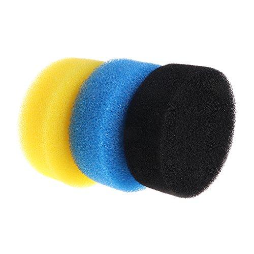 Joocyee Éponge de Filtre d'aquarium Trois Couleurs Douces Accessoires de Joint utiles matériel de réservoir de Poissons, Filtre de Baril de Filtre Externe Coton, comme indiqué