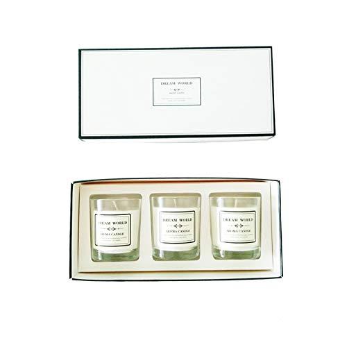 Aromatherapie kaars set 3-delig kaars glas romance verwijdert de geur van tabak en alcohol Sandalwood Wit