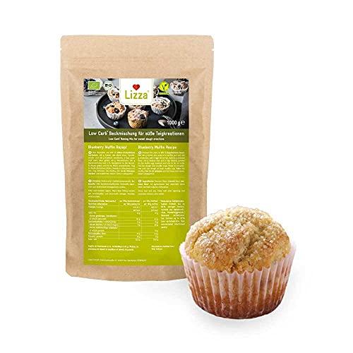 Lizza Low Carb Backmischung für Süße Teige | Ohne Zuckerzusatz | 82% weniger Kohlenhydrate | Protein- & Ballaststoffreich | Bio. Glutenfrei. Vegan (1 KG)