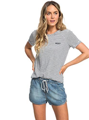 Roxy Music Never Stop - Denim Beach Shorts for Women - Frauen