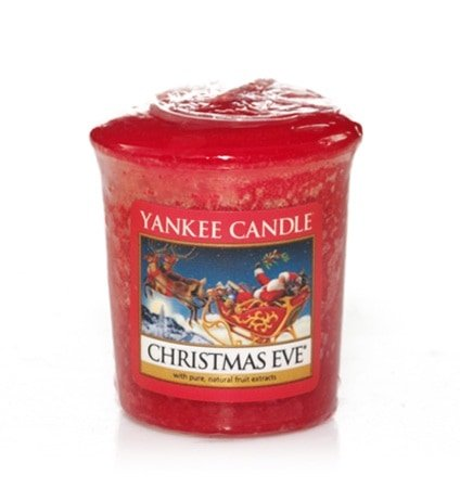 Yankee Candle, candele votive piccole Sampler Christmas Eve Set x18 pezzi