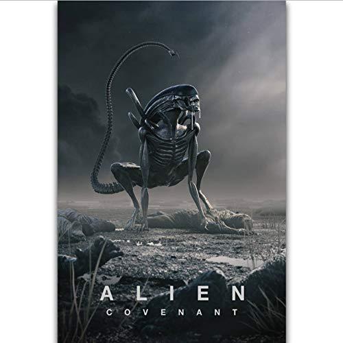 RUIYAN Leinwandbilder Alien Covenant Hot Horrorfilm Monster Raum Wandkunst Malerei Druck Auf Seide Leinwand Poster Dekoration 40X60 cm Dt82P Rahmenlose