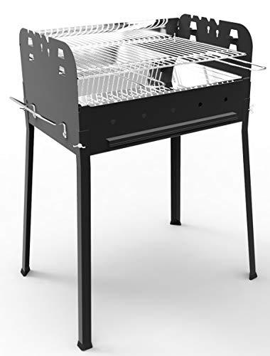 Ferraboli Sirio Barbecue A CARBONELLA, Nero E Acciaio