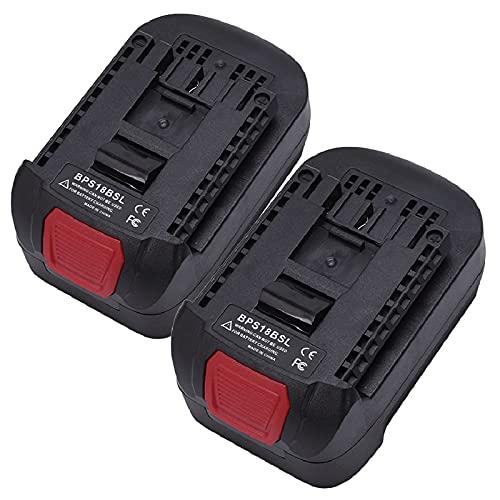 BPS18BSL Adaptador de batería Black & BACHE ROR para Stanley o para para Forzado por Portero Cable 18V Batería de Iones de Litio para Bosch 18V Li-Ion Battery Herramienta de energía, WQQWQQ-8521