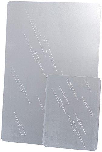 AGT Silberputzplatte: 2er-Set Reinigungsplatten für Silber, je 1 große und kleine Platte (Silberreinigungsplatte)