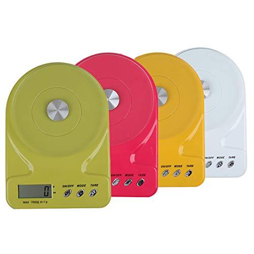 Báscula digital para alimentos en gramos y onzas, 7 kg / 1 g Báscula de cocina para cocinar y hornear, báscula electrónica de alta precisión con pantalla LCD y función de tara para cocina, ingredien