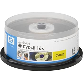 HP 16x LightScribe 4.7GB 120-Minute DVD+R Media - 15 Pack  Discontinued by Manufacturer