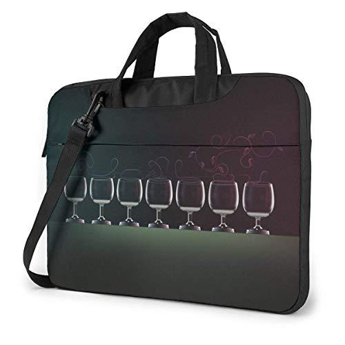 AOOEDM Estuche para computadora portátil Bolsa para computadora Funda para manga Copa de vino Maletín impermeable para hombro 13 14 15.6 pulgadas