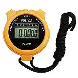 PULIVIA - Cronometro Sportivo con cronometro Digitale e Memoria spaccata, Calendario 12/24 Ore con Sveglia, Cronometro Sportivo Antiurto,Grande Display resistentePL703-Y