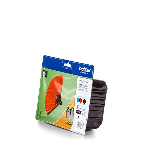 Brother Original LC129XL /, für MFC-J 6520 DW 4X Premium Drucker-Patrone, Schwarz, Cyan, Magenta, Gelb, 1x 2400, 3X 1200 Seiten