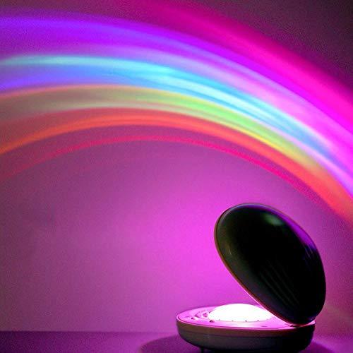 Leftwei Sensor Luz de Seguridad Lámpara Luz de Noche Decoración Luz de proyección LED Luz de Noche innovadora con Forma de Concha Dormitorio para el Bar de la Oficina en el hogar Comedor Jardín