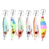 Pwshymi Cebo de camarón Señuelos de Pesca Luminosos Anzuelo de Calamar Señuelo de Pesca Cebo de...