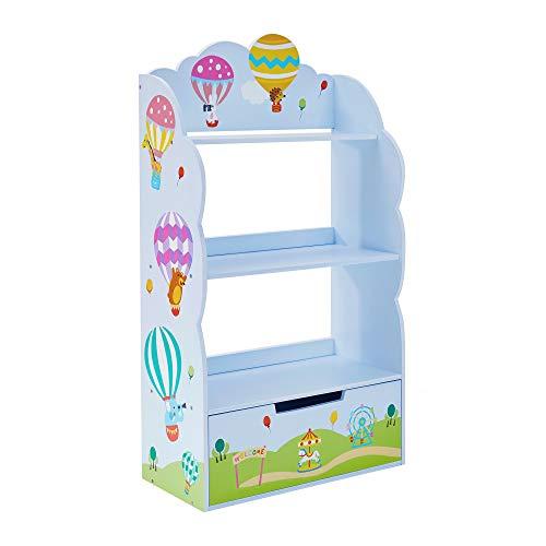 Estante para Libros Hot Air Balloon, guardería, Muebles de Madera para niños, Color Pastel TD-13124A