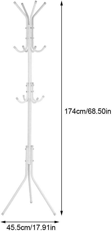 GOTOTOP Garderobenst/änder Wei/ß Multifunktions Metall Kleiderst/änder f/ür Schlafzimmer-Wohnzimmer B/üro Gebrauch H/öhe 174cm