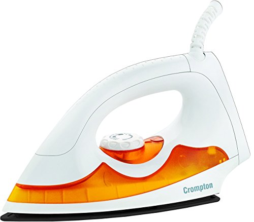 Crompton PD Plus 1000-Watt Dry Iron with 2 Layers of American Heritage Non-Stick Coating (White)