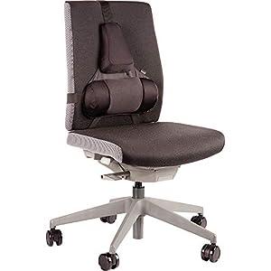 Fellowes Professional Series – Cojín lumbar ergonómico para silla de oficina, con Memory Foam, color negro