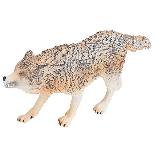 Modelo Lobo, Brinquedo Modelo Lobo Material Seguro de PVC para Estatueta Decoração de Escritório em Casa para Suportes de Fotografia