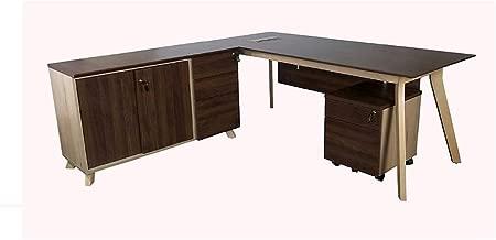 Mahmayi Projekt 7 Modern Executive Desk, 75 x 180 x 195 cm, Brown, PX71800E