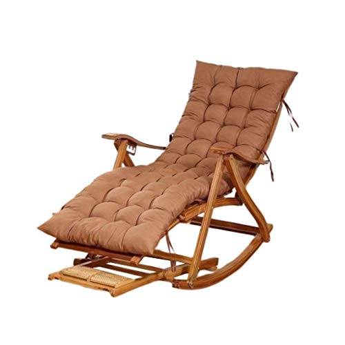 LLSS Mecedora, Mecedora portátil Multifuncional, Sillón reclinable de Madera Ajustable para Exteriores/jardín/balcón