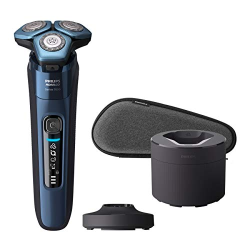 Philips Norelco Shaver 7700, Rechargeable Wet & Dry Electric Shaver with SenseIQ Technology, Quick Clean Pod, Charging Stand and Pop-up Trimmer, S7782 85
